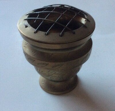 Small Brass Posy Vase approx 2 Inch Diameter For Table Centre