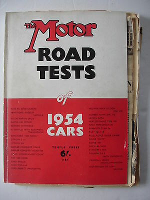 The Motor Road Tests of 1954 Cars