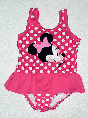 BNWT Baby Girls Minnie Mouse Swimming Costume Swimsuit Swim Nappy 6-9-12 months