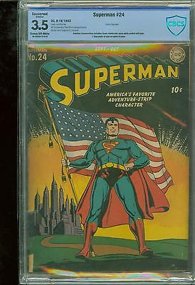 Superman #24 [1943] Certified[3.5] Classic Flag Cover