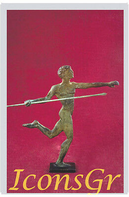 Ancient Greek Bronze Museum Statue Replica Of Javelin Thrower At Olympic Games
