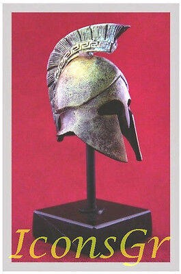 Ancient Greek Bronze Museum Replica Vintage Athenian Officer Battle Helmet