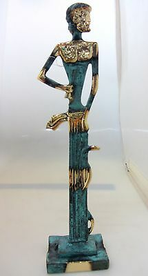 Ancient Greek Bronze Museum Statue Replica of Asclepius God Of Medicine (204)