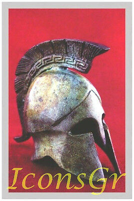 Ancient Greek Bronze Museum Replica Vintage Spartan Officer Battle Helmet (1387)