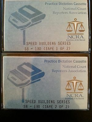 2 NCRA Court Reporting/Reporter Practice Speed Building 180 Dictation Tapes