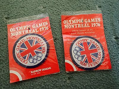 Montreal Olympic 1976 sew on patches - in original packaging - RARE