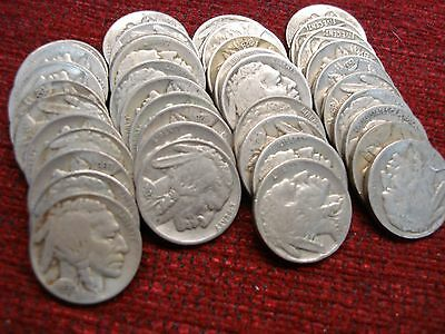 Buffalo Nickels - 40 - All Nice Full Dates & Mixed Too!
