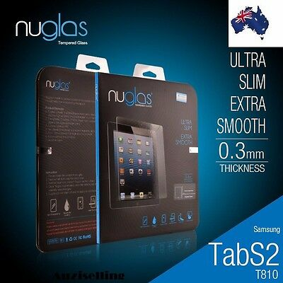 "Genuine Nuglas Tempered Glass Screen Protector for Samsung Galaxy S2 8.0"" /9.7"""