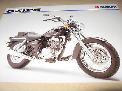 Suzuki GZ125 Motorcycle Sales Brochure 2002
