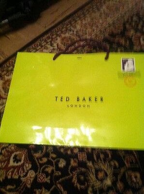 Soft cardboard gift bag Ted Baker Large  green paper carrier bags NO tag