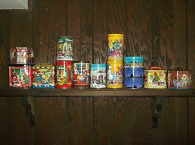 14 M&M Candy Tins Lot Metal Containers Boxes Mars M&M's Holiday Collectibles #1
