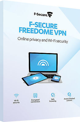 F-Secure Freedome VPN Online Privacy & WiFi Security 5 Devices PCs 1 Year Key