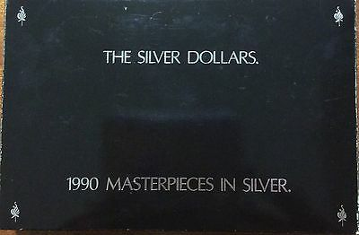 1990 Masterpieces in Silver Proof Set The silver dollars