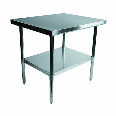 Alera ALEXS3630 Stainless Steel Table, 36 x 30 x 35, Silver