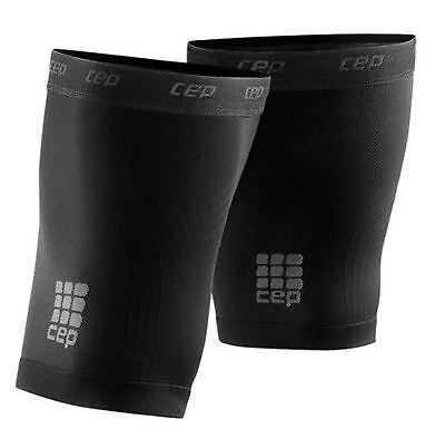 CEP Dynamic+ Quad Sleeves Compression Pair Unisex Size 3 Black New