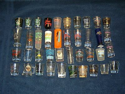 Shot Glass Collection, Lot of 40 Assorted Glasses