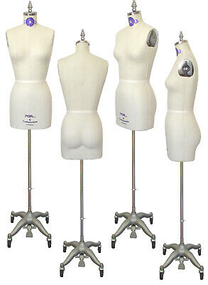 PGM Industry Grade Professional Female Dress Form w Collapsible Shoulder Size 6