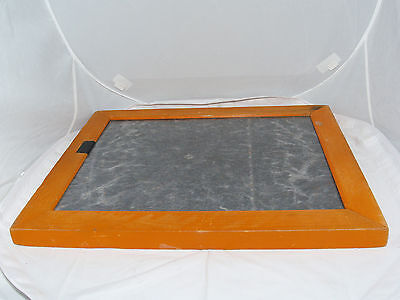 "Premier 11x14"" Photo Contact Printing Frame. Three springs. Orange color."