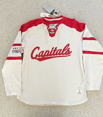 Washington Capitals hockey - Brand New  - men knit rib long sleeve, size M