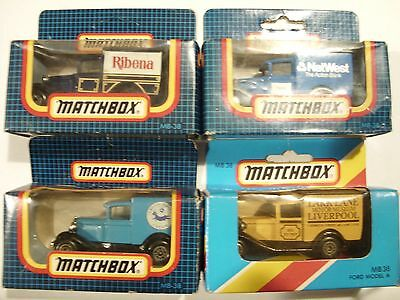 MATCHBOX x FOUR MB38 FORD MODEL A DIECAST COLLECTABLE MODELS IN SEALED BOXS