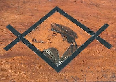 Wwi 1916 German Pow Made Wooden Marquetry Box Sms Mainz Ship / Larkmill Pow Camp