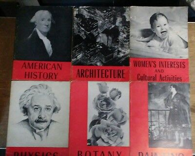 Vintage 1944 Encyclopedia Britannica Home Reading Guide - Lot Of 6