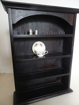 Good Quality Wooden Display Shelf Unit Hanging/freestanding -For Miniatures Vgc