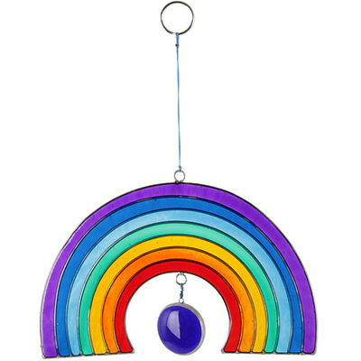Rainbow Hanging SunCatcher Stained Glass For Home Window Garden Decoration