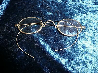 Antique   Spectacles  Eye Glasses  Gold Coloured  Great Example