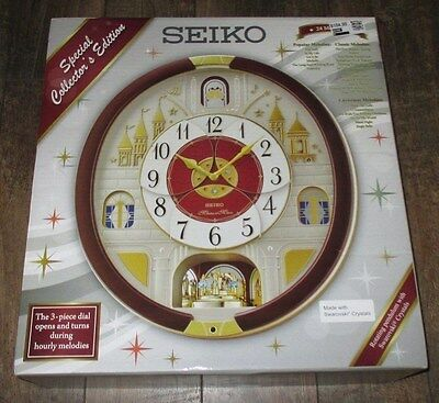 New Seiko 24 Melodies in Motion Wall Clock Special Collector's Edition QXM565BRH