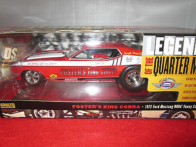 """1:18 Auto World 1972 Fosters King Cobra  Mustang """"funny Car"""" Nhra"""