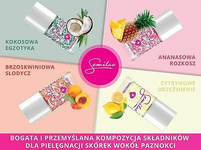 Semilac Manicure & Cuticle Oil Pinepple Peach Lemon Coconut Nail Conditioner