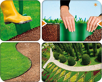 Very Strong Plastic Garden Grass Lawn Edge Border Fence Wall Driveway Roll Path
