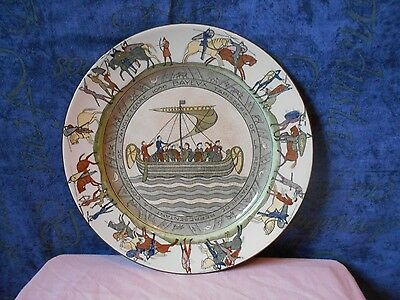 Unusual Bayeux Tapestry Plate By Royal Doulton D2873 Mcintosh Grocers Germiston