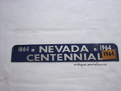*1964 NEVADA CENTENNIAL TOPPER License Plate Tag 1964