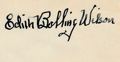 Edith Bolling Wilson- Vintage 1930's Signature