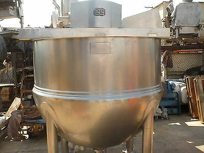 Stainless Steel Jacketed 500 Gallon LEE Mixing Kettle Dual Motion