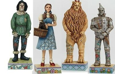 """JIM SHORE THE WIZARD OF OZ Dorothy Tin Man Lion Scare crow 4.5"""" Ht New Set of 4"""