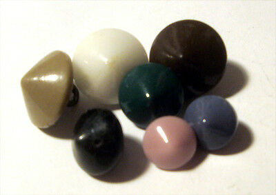 Lot 7 Antique CONE Shape CHINA GAITER Buttons ~ COLOR & Variety Sizes Vintage