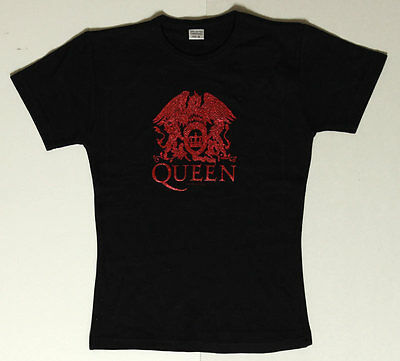 Queen Night at the Opera _RARE_ Womens/Ladies Concert Tour Shirt w/Sequined Art
