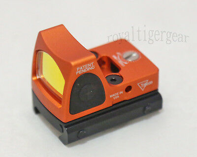 RMR style Red Dot Holographic Weapon Sight w/ 1913 Rail Mount - Orange
