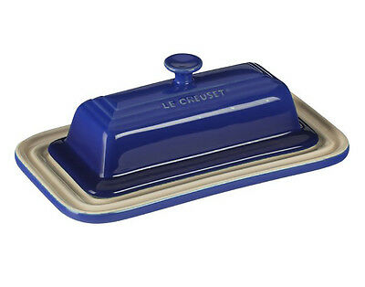 NEW Authentic Le Creuset Stoneware Lidded  Butter Dish - Blue Marseille NWT