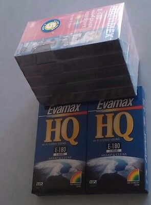 Bulk Lot 7 BLANK VHS VIDEO TAPES Factory Sealed NEW