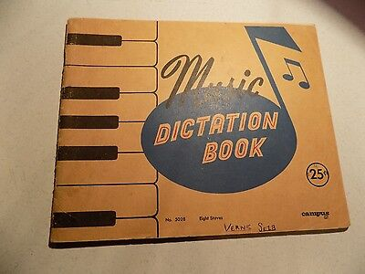 Vintage Paper Collectables Scribbler Notebook Used Music Dictation Book