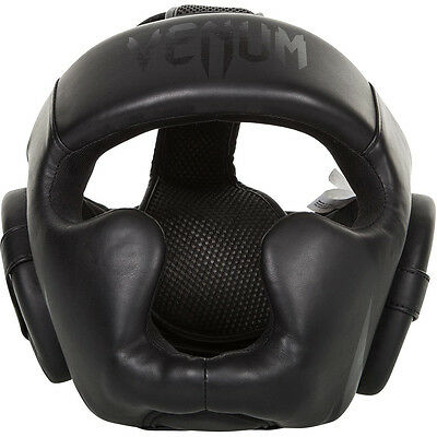 Venum Challenger 2.0 Skintex Leather MMA Training Headgear - Black