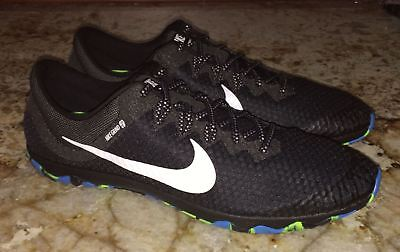 afa6b8c1a6f7 NIKE Zoom Rival Waffle XC Cross Country Spikeless Shoes Black White Mens Sz  14