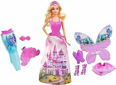 Barbie Fairytale Dress Up Gift Set - Barbie Doll and 18 Different looks NIB