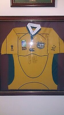 Framed World Cup Rugby Union Jersey signed by Chris Latham