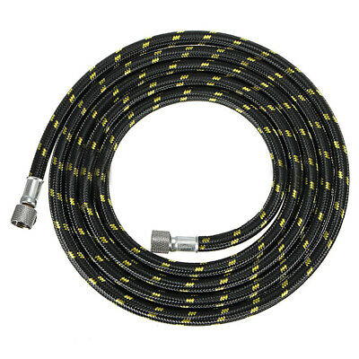 """1pc 6FT 1.8m Braided Airbrush Compressor Air Hose Tool 1/8""""-1/4"""" Adaptor Fitting"""