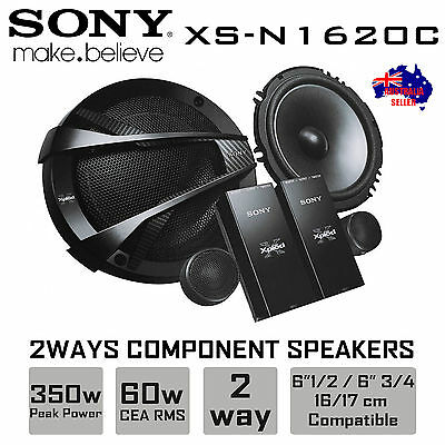 "New Sony Xs-N1620C 2-Way 6.5"" Car Component Speaker System 350Watt"